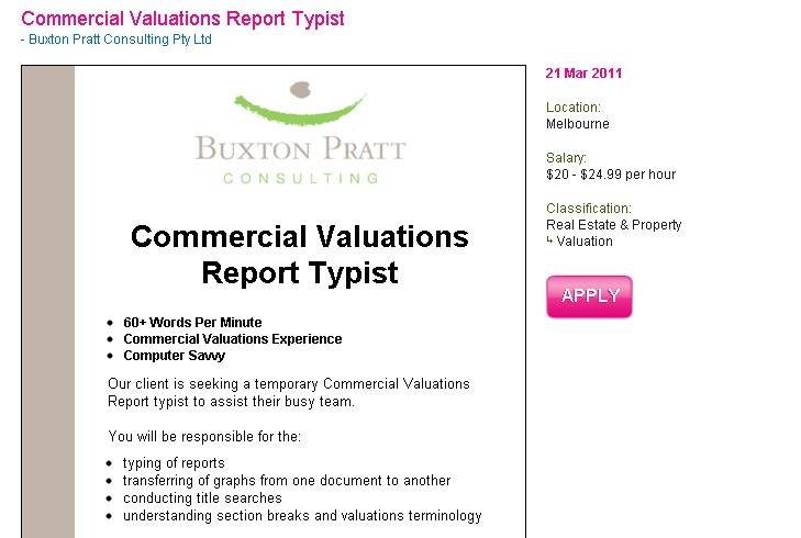 Commercial valuation and residential valuer jobs australia melbourne sydney brisbane queensland victoria western australia adelaide hobart tasmania australian property institute seek.com jobs.com.au seek.com.au